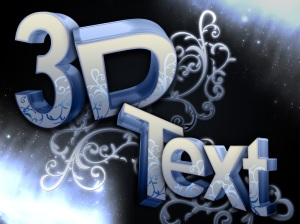 My sample 3d text artwork...